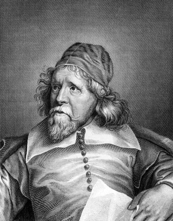 jones: Inigo Jones (1573-1652) on engraving from 1859. British architect. Engraved by C.Barth and published in Meyers Konversations-Lexikon, Germany,1859.