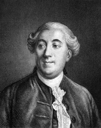 statesman: Jacques Necker (1732-1804) su incisione dal 1859. Statista francese. Incisione di autore ignoto e pubblicato in Meyers Konversations-Lexikon, Germania, 1859.