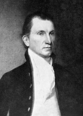 james: James Monroe (1758-1831) on antique print from 1899.  5th President of the United States during 1817–1825. After Vanderlyn and published in the 19th century in portraits, Germany, 1899.