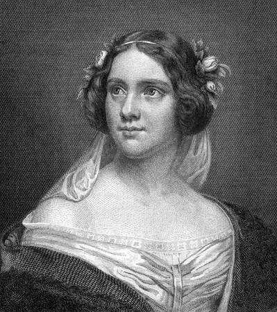 chanteur opéra: Jenny Lind (1820-1887) sur la gravure de 1859. La chanteuse d'opéra suédois. Gravé par N.Afinger et publié dans Meyers Konversations-Lexikon, en Allemagne, en 1859. Éditoriale