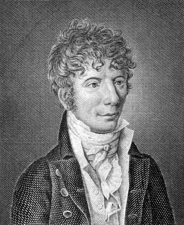 immanuel: Jens Immanuel Baggesen (1764-1826) on engraving from 1859. Danish poet. Engraved by unknown artist and published in Meyers Konversations-Lexikon, Germany,1859.