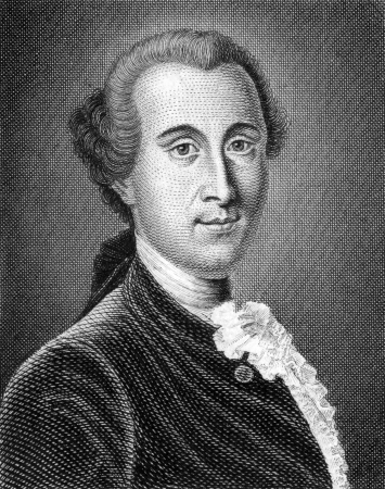 philosophical: Johann Georg Ritter von Zimmermann (1728-1795) on engraving from 1859. Swiss philosophical writer, naturalist and physician. Engraved by unknown artist and published in Meyers Konversations-Lexikon, Germany,1859. Editorial