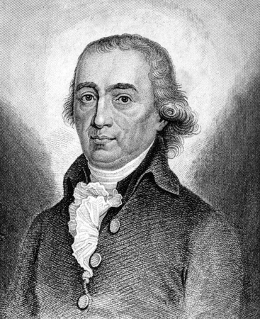 theologian: Johann Gottfried Herder (1744-1803) on engraving from 1859. German philosopher, theologian, poet and literary critic. Engraved by unknown artist and published in Meyers Konversations-Lexikon, Germany,1859. Editorial