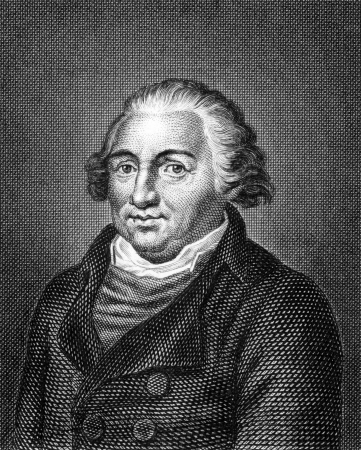 engel: Johann Jacob Engel (1741-1802) on engraving from 1859. German writer and philosopher. Engraved by unknown artist and published in Meyers Konversations-Lexikon, Germany,1859.