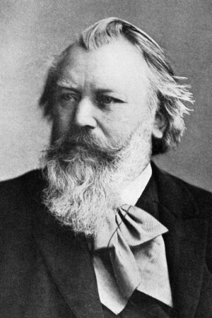 Johannes Brahms (1833-1897) on engraving from 1908. German composer and pianist, one of the leading musicians of the Romantic period. Engraved by unknown artist and published in
