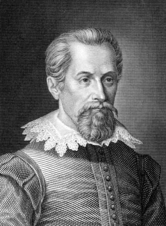Johannes Kepler (1571-1630) on engraving from 1859.  German mathematician, astronomer and astrologer. Engraved by C.Barth and published in Meyers Konversations-Lexikon, Germany,1859. Editorial