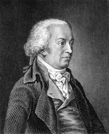 historian: Johannes von Muller (1752-1809) on engraving from 1859. Swiss historian. Engraved by unknown artist and published in Meyers Konversations-Lexikon, Germany,1859.