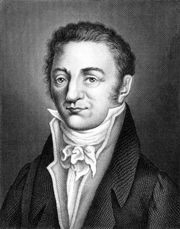 Joseph Louis Gay-Lussac (1778-1850) on engraving from 1859. French chemist and physicist. Engraved by unknown artist and published in Meyers Konversations-Lexikon, Germany,1859.