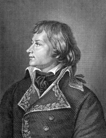 laurent: Laurent de Gouvion Saint-Cyr (1764-1830) on engraving from 1859.  French commander. Engraved by C.Barth and published in Meyers Konversations-Lexikon, Germany,1859.