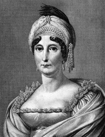 napoleon: Letizia Ramolino (1750-1836) on engraving from 1859.  Mother of Napoleon I of France. Engraved by A.Spiess and published in Meyers Konversations-Lexikon, Germany,1859. Editorial