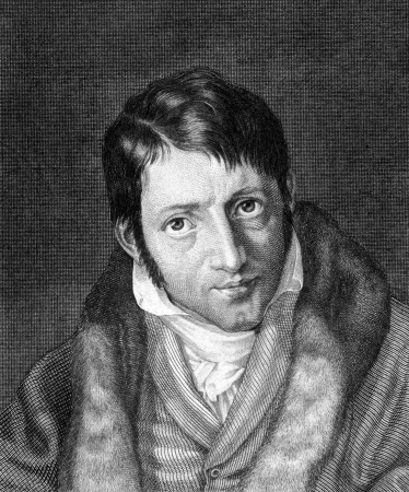 satirist: Ludwig Borne (1786-1837) on engraving from 1859. German political writer and satirist. Engraved by C.Barth and published in Meyers Konversations-Lexikon, Germany,1859.
