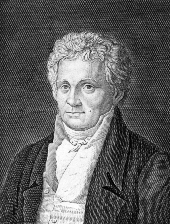 critic: Ludwig Tieck (1773-1853) on engraving from 1859.  German poet, translator, editor, novelist, writer of Novellen and critic, Engraved by unknown artist and published in Meyers Konversations-Lexikon, Germany,1859.