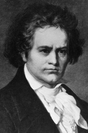 Ludwig van Beethoven (1770-1827) on engraving from 1908. German composer and pianist, one of the most famous and influential of all times. Engraved by unknown artist and published in
