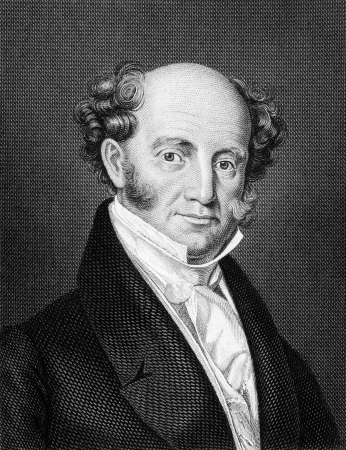Martin Van Buren (1782-1862) on engraving from 1859. 8th President of the United States during 1837-1841. Engraved by unknown artist and published in Meyers Konversations-Lexikon, Germany, 1859. Stock Photo - 15111652
