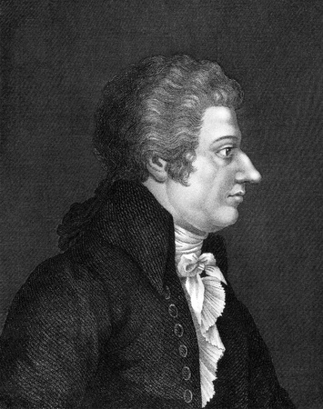 amadeus mozart: Wolfgang Amadeus Mozart (1756-1791) on engraving from 1859. One of the most significant and influential composers of classical music. Engraved by unknown artist and published in Meyers Konversations-Lexikon, Germany,1859.