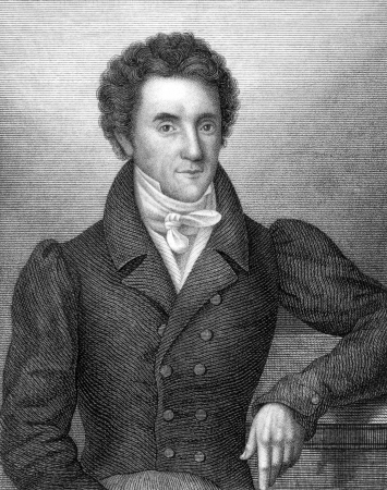 jurist: Philipp Jakob Siebenpfeiffer (1789-1845) on engraving from 1859. German jurist and political jurnalist. Engraved by unknown artist and published in Meyers Konversations-Lexikon, Germany,1859.