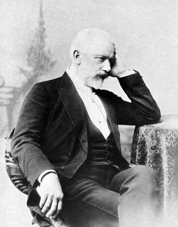 Pyotr Ilyich Tchaikovsky (1840-1893) on antique print from 1899. Russian composer. After unknown artist and published in the 19th century in portraits, Germany, 1899. Editorial