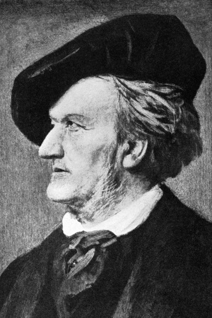 Richard Wagner (1813-1883) on engraving from 1908. German composer, conductor, theatre director and polemicist best known for his operas. Engraved by unknown artist and published in The worlds best music, famous songs. Volume 8, by The University Socie