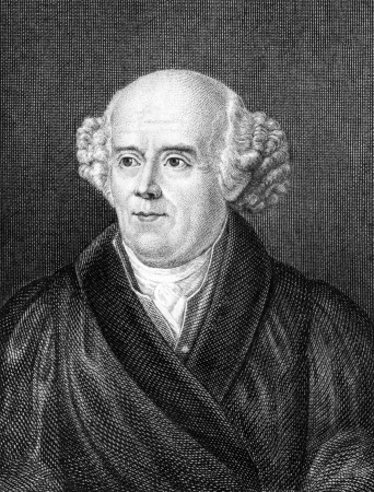 Samuel Hahnemann (1755-1843) on engraving from 1859. German physician. Engraved by unknown artist and published in Meyers Konversations-Lexikon, Germany,1859.