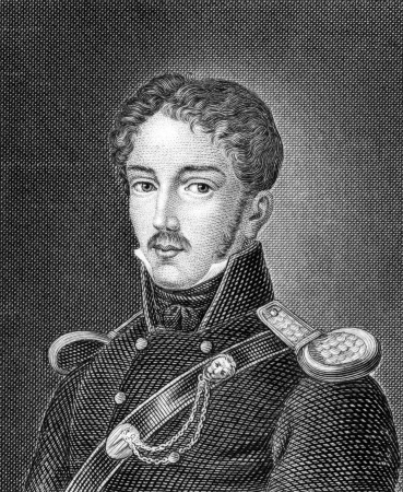 theodor: Theodor Korner (1791-1813) on engraving from 1859.  German poet and soldier. Engraved by unknown artist and published in Meyers Konversations-Lexikon, Germany,1859. Editorial