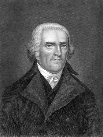 Thomas Jefferson (1743-1826) on engraving from 1859. American Founding Father, the principal author of the Declaration of Independence and third President during 1801–1809. Engraved by C.Mayer and published in Meyers Konversations-Lexikon, Germany,1859.