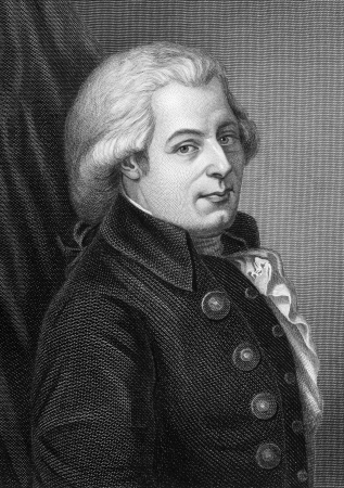 Wolfgang Amadeus Mozart  1756-1791  on engraving from 1857  One of the most significant and influential composers of classical music  Engraved by C Cook and published in Imperial Dictionary of Universal Biography,Great Britain,1857  Editorial