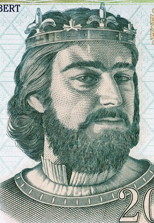 banknote uncirculated: Charles I of Hungary (1288-1342) on 200 Forint 2004 Banknote from Hungary. First King of Hungary and Croatia during 1308–1342.