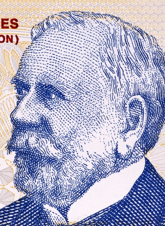 Dardo Rocha (1838-1921) on 2 Pesos 2002 Banknote from Argentina. Argentine naval officer, lawyer and politician.  Imagens