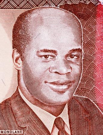 unc: Eduardo Mondlane on 1000 Meticais 1991 Banknote from Mozambique. President of Mozambique during 1962-1969. Stock Photo