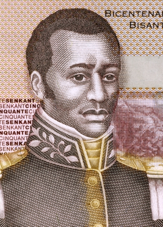 banknote uncirculated: Francois Capois (1766-1806) on 50 Gourdes 2010 Banknote from Haiti. Haitian rebel slave.