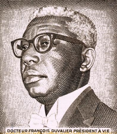 unc: Francois Duvalier (1907-1971) on 1 Gourde 1984 Banknote from Haiti. President of Haiti during 1957-1971.