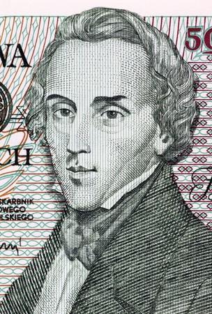frederic: Frederic Chopin en 5000 Zlotych 1988 Billete de Polonia. Compositor y pianista polaco virtuoso. Foto de archivo