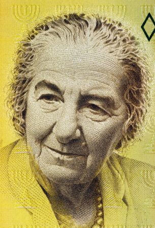 sheqalim: Golda Meir  1898-1978  on 10 New Sheqalim 1992 Banknote from Israel  4th Prime Minister of Israel