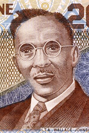 i t: I  T  A  Wallace-Johnson  1894-1965  on 2000 Leones 2006 Banknote from Sierra Leone  Sierra Leonean and British West African workers  leader, journalist, activist and politician  Stock Photo