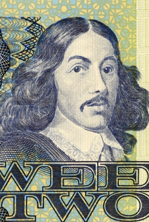 banknote uncirculated: Jan van Riebeeck  1819-1877  on 2 Rand 1983 Banknote from South Africa  Dutch colonial administrator and founder of Cape Town  Stock Photo