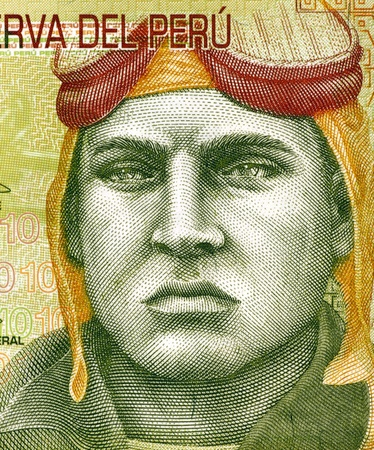 banknote uncirculated: Jose Quinones Gonzales (1914-1941) on 10 Nuevos Soles 2009 Banknote from Peru. Peruvian military aviator and national aviation hero.