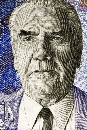 papermoney: Joseph Maurice Paturau on 50 Rupees 2009 Banknote from Mauritius. Stock Photo