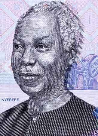 banknote uncirculated: Julius Nyerere (1922-1999) on 1000 Shilingi 2006 Banknote from Tanzania. First President of Tanzania during 1961-1985.