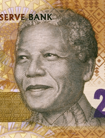 Nelson Mandela  born 1918  on 20 Rand 2012 Banknote from South Africa  South African anti-apartheid activist, revolutionary and politician who served as President of South Africa during 1994-1999