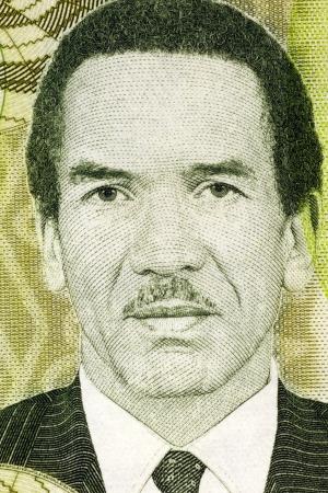 Seretse Khama  1921-1980  on 10 Pula 2009 Banknote from Botswana  Statesman from Botswana  Stock Photo - 18105914