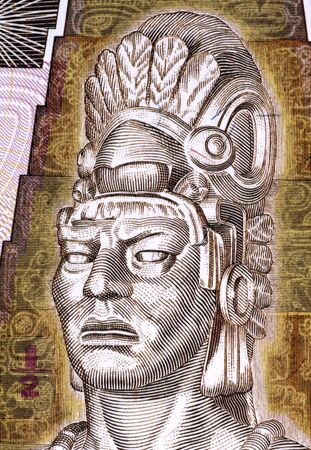 unc: Tecun Uman  1500-1524  on Half Quetzal 1998 Banknote from Guatemala  Last ruler and king of the K