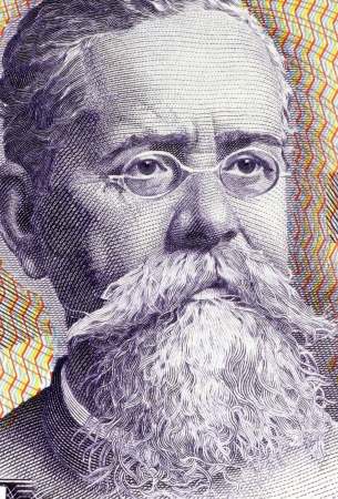 banknote uncirculated: Venustiano Carranza  1859-1920  on 100 Pesos 1982 Banknote from Mexico  One of the leaders of the Mexican Revolution  Stock Photo