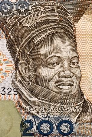 banknote uncirculated: Ahmadu Bello (1909-1966) on 200 Naira 2011 Banknote from Nigeria. Nigerian politician.