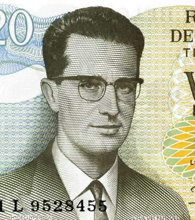 baudouin: Baudouin of Belgium (1930-1993) on 20 Francs 1964 Banknote from Belgium. King of the Belgians during 1951-1993.