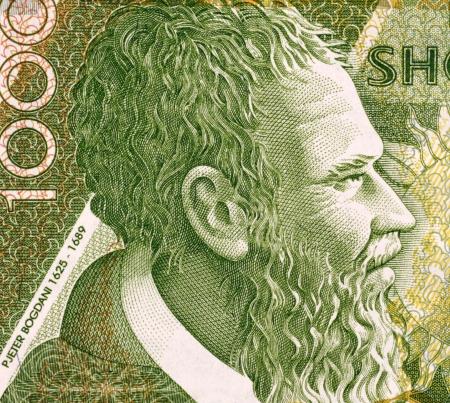 banknote uncirculated: Pjeter Bogdani (1622-1689) 1000 Leke 2001 Banknote from Albania. Most original writer of early literature in Albania.