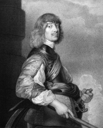 illustrious: Algernon Percy,10th Earl of Northumberland (1602-1668) on engraving from 1827. English military leader. Engraved by T.A..Dean and published in Portraits of Illustrious Personages of Great Britain,UK,1827.
