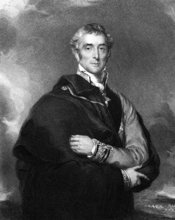 statesman: Arthur Wellesley, primo duca di Wellington (1769-1852) su incisione dal 1834. Soldato britannico e statista. Incisione di HTRyall e pubblicato in Ritratti'' di personaggi illustri della Gran Bretagna'', Regno Unito, 1834. Editoriali