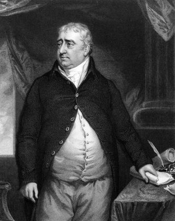 statesman: Charles James Fox (1749-1806), incisione dal 1834. Statista Whig britannico. Incisione di H.Robinson e pubblicato in'' Ritratti di illustri personaggi della Gran Bretagna'', UK, 1834. Editoriali