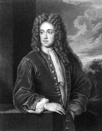 statesman: Charles Talbot, primo duca di Shrewsbury (1660-1718), incisione dal 1830. Statista inglese. Incisione di J.Cochran e pubblicato in'' Ritratti di illustri personaggi della Gran Bretagna'', UK, 1830.