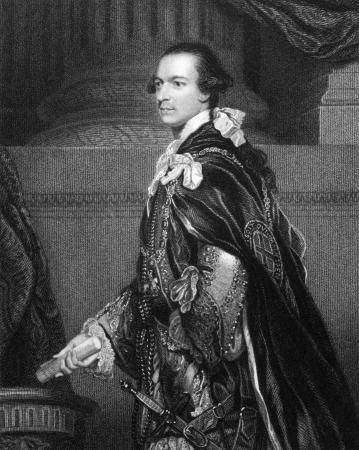 statesman: Charles Watson-Wentworth, secondo marchese di Rockingham (1730-1782) su incisione dal 1832. Statista britannico Whig. Primo Ministro della Gran Bretagna. Inciso da WTMote e pubblicato in Ritratti'' di personaggi illustri della Gran Bretagna'', Regno Unito, 1832.